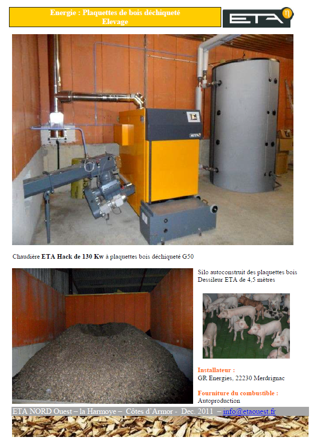 Chaudière bois déchiqueté HACK 130 kW - LA HARMOYE (22)