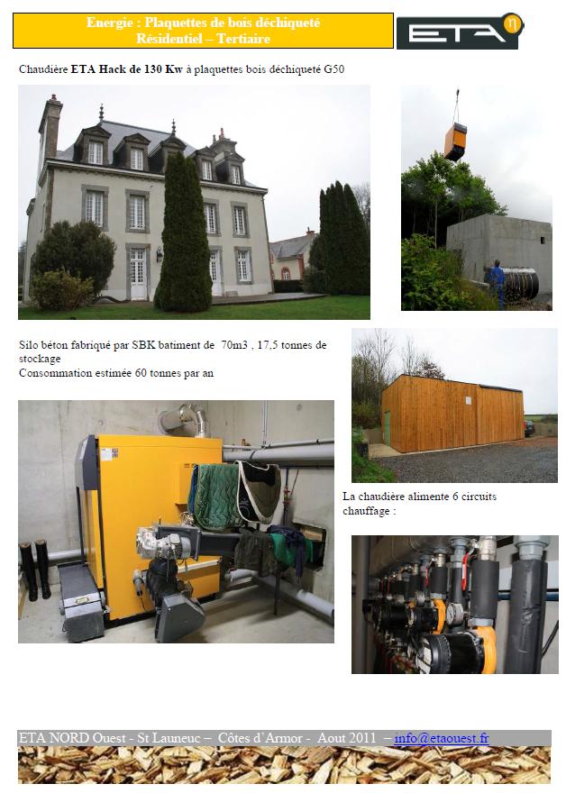 Chaudière bois déchiqueté HACK 130 kW - SAINT-LAUNEUC (22)