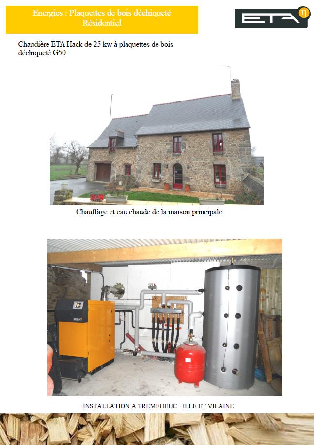 Chaudière bois déchiqueté HACK 25 kW - TREMEHEUC (35)