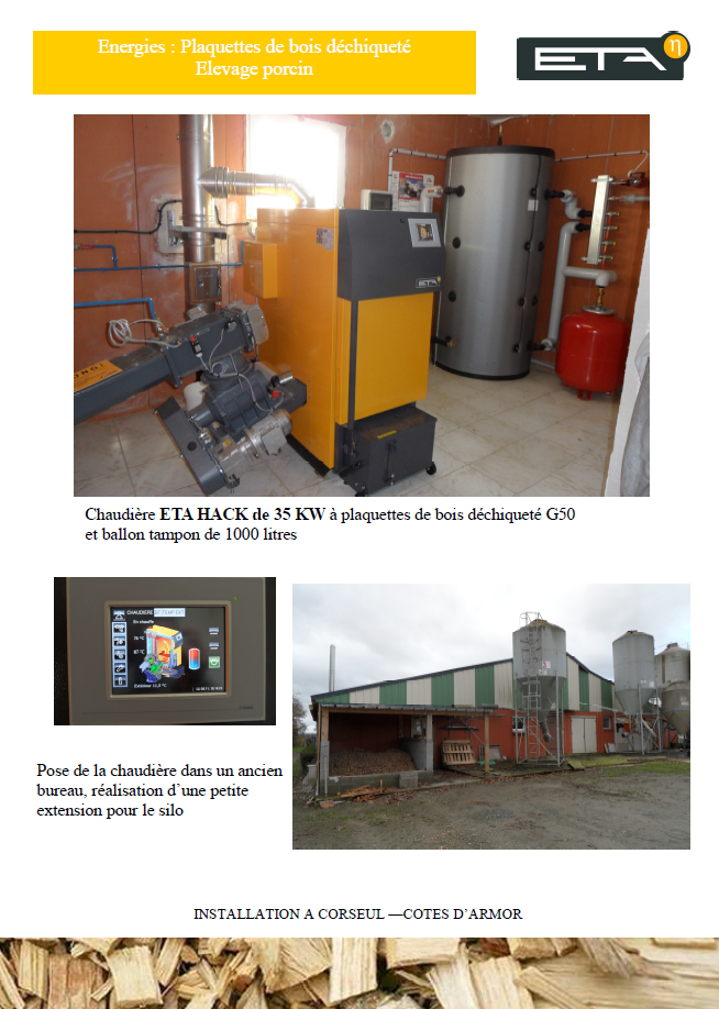 Chaudière bois déchiqueté HACK 35 kW - CORSEUL (22)
