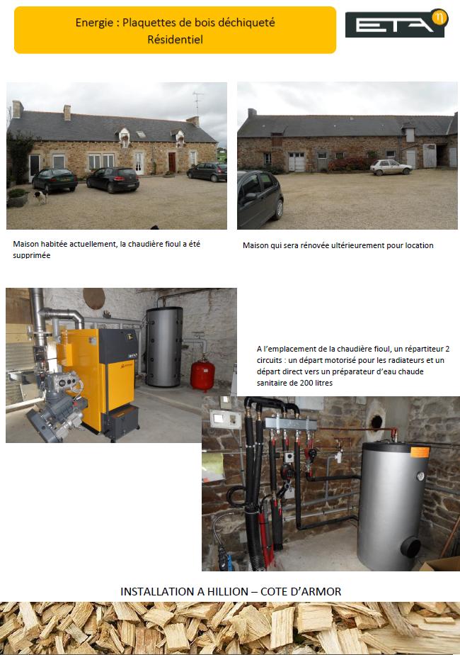 Chaudière bois déchiqueté HACK 35 kW - HILLION (22)