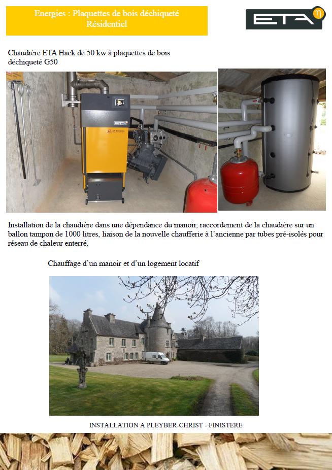 Chaudière bois déchiqueté HACK 50 kW - PLEYBER-CHRIST (29)
