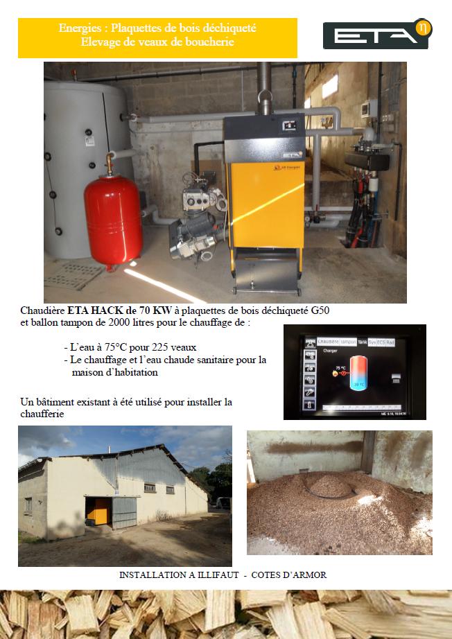 Chaudière bois déchiqueté HACK 70 kW - ILLIFAUT (22)