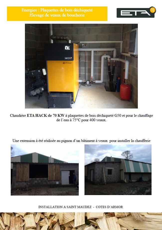 Chaudière bois déchiqueté HACK 70 kW - SAINT-MAUDEZ (22)