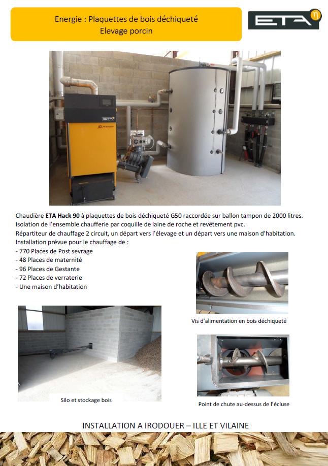 Chaudière bois déchiqueté HACK 90 kW - IRODOUER (35)