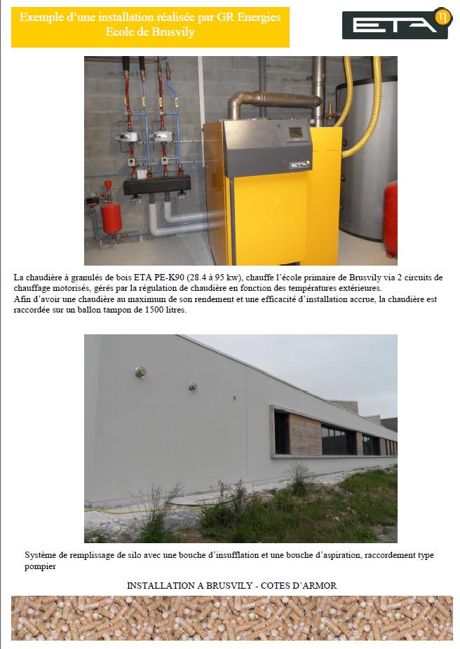 Chaudière granulé bois PE-K 90 kW - BRUSVILY (22)